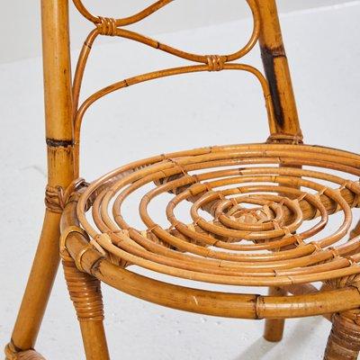 Exceptionnel Vintage High Back Wicker Garden Chair, 1970s 3