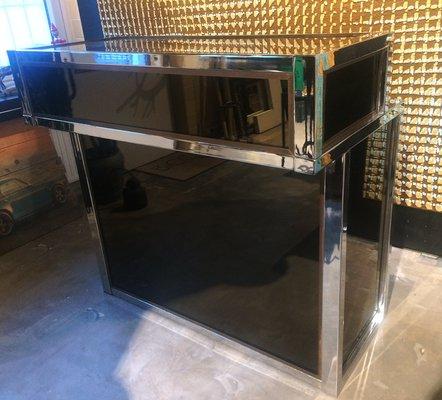 Vintage Chrome Brass Glass Home Bar For Sale At Pamono