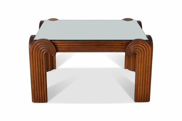 Italian Carved Wooden Coffee Table 1940s