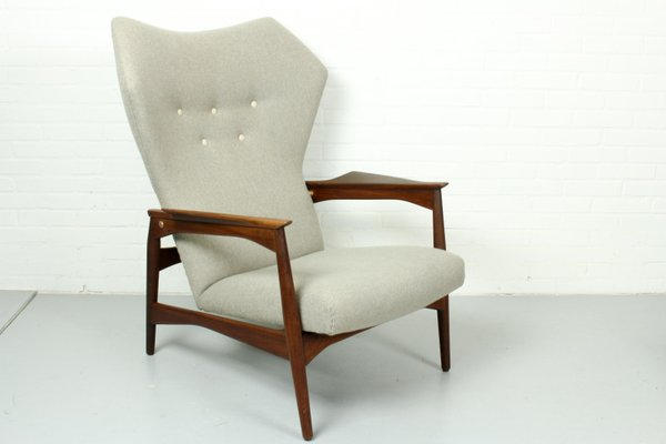 Vintage Danish Reclining Lounge Chair By Ib Kofod Larsen For Carlo