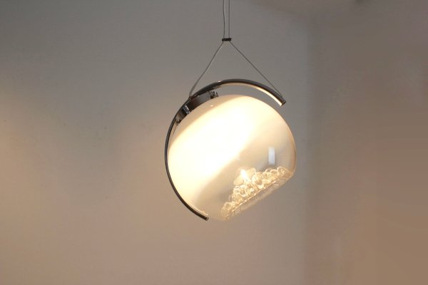 Frosted Glass Moon Pendant Light From Mazzega 1970s For Sale At Pamono