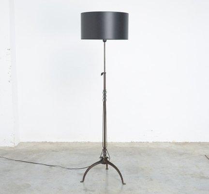 Antique Black Wrought Iron Floor Lamp 1