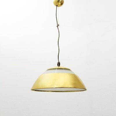 Lampe VerreItalie1960s À Suspension Vintage En Laitonamp; 2HW9IED