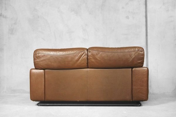 Italian Leather Sofa from Brunati, 1970s for sale at Pamono