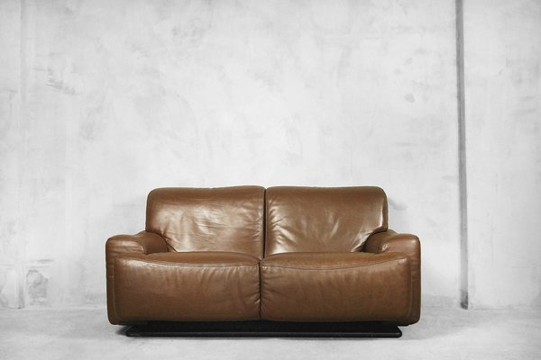 Italian Leather Sofa from Brunati, 1970s
