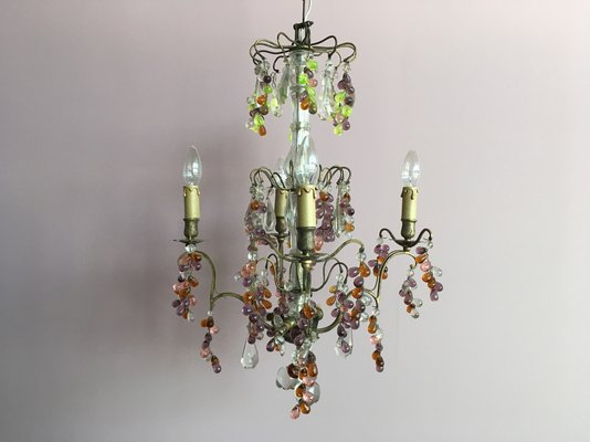 Vintage French Lead Crystal Chandelier 1 - Vintage French Lead Crystal Chandelier For Sale At Pamono