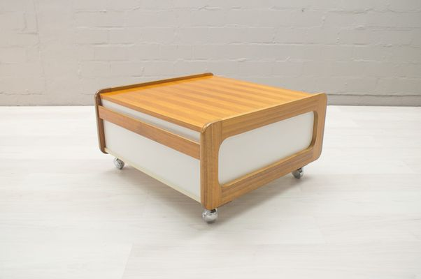 Vintage Walnut Coffee Table With Drawer 1960s 1
