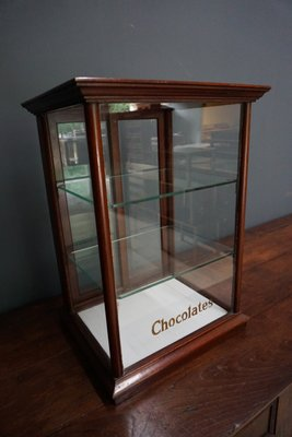 Antique Cadburyu0027s Chocolate Mahogany Display Cabinet, 1900s 1