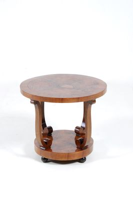 Art Deco Coffee Table In Walnut Burl, 1930s 2