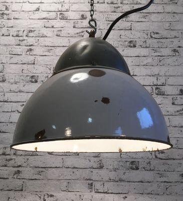 Lampe Gris Suspension Email À Vintage En BdoexWrC