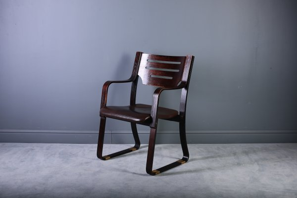 Leather U0026 Bentwood Dining Chairs, 1960s, Set Of ...