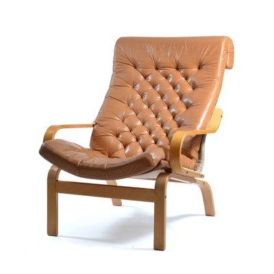 Poltrone Ikea Pelle.Poltrona Bore In Pelle E Lino Di Noboru Nakamura Per Ikea Anni 70