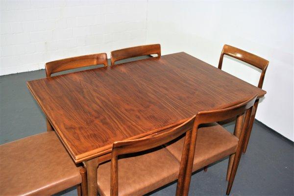 Tavolo da pranzo allungabile con sedie di Lübke, anni \'60, set di 7 ...