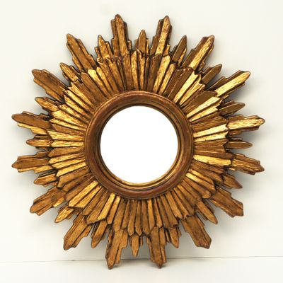 Vintage Convex Sunburst Mirror 1