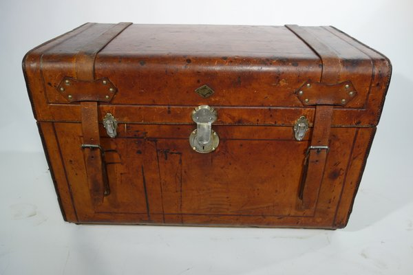 Antique Russian Leather Trunk 1905 For