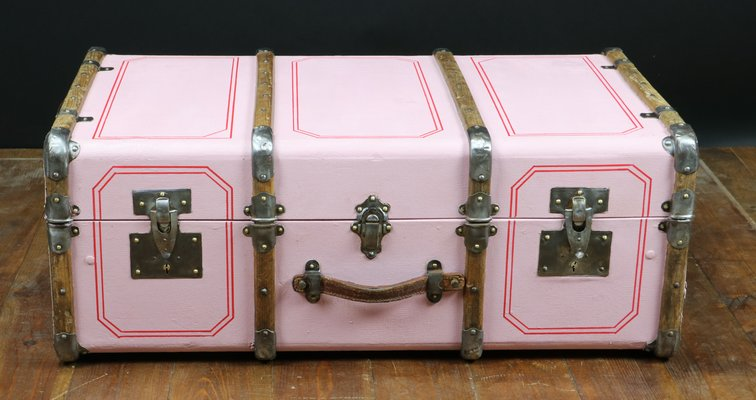 Vintage Pink Trunk 1