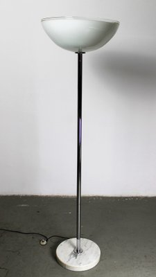 Italian Floor Lamp With Murano Glass Bowl Shade 1970s