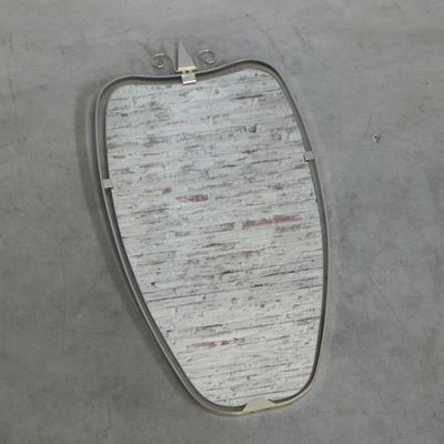 Vintage Mirror with Aluminum Frame for sale at Pamono