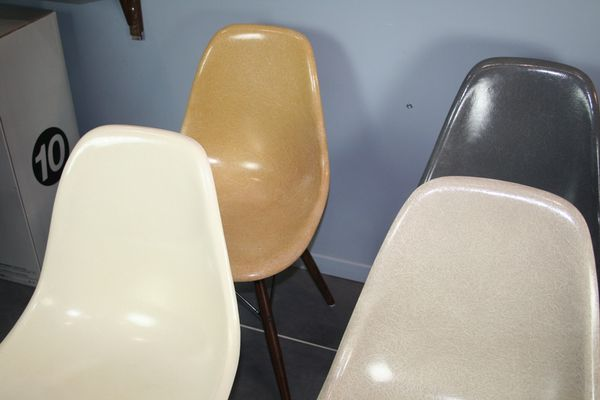 Vintage DSW Fiberglass Chairs By Charles U0026 Ray Eames For Herman Miller, ...