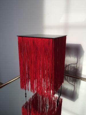 Mit Lampe Gestell Und Spanische Fransen Rote Plexiglas 80PkwnO