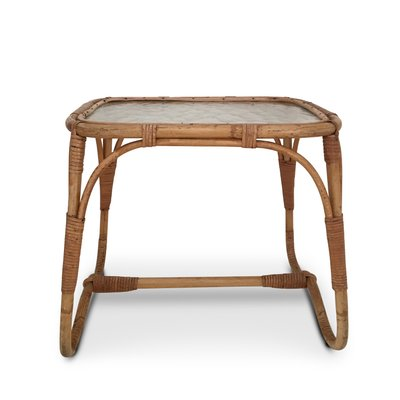 Fabulous Mid Century Rattan Glass Side Table Bralicious Painted Fabric Chair Ideas Braliciousco