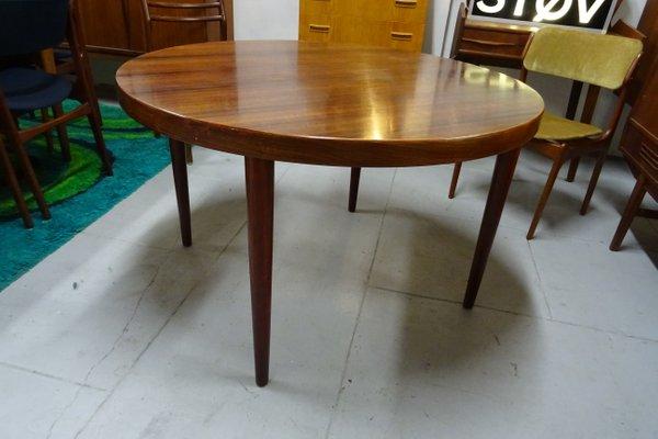 Table Ronde A Rallonge.Table Ronde A Rallonge Vintage En Palissandre Par Kai Kristiansen Pour Skovmand Andersen