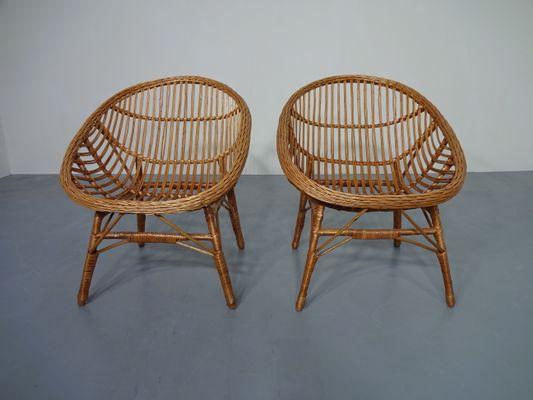 Sedie In Rattan Da Interno : Rattan & bambus stühle 1960er 2er set bei pamono kaufen