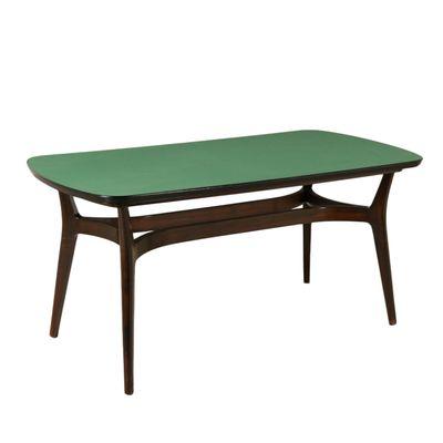 Table Vintage en Bois Noirci & Formica, Italie en vente sur Pamono