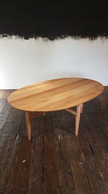 Bon Mid Century Danish Large Oval Coffee Table By Niels O. Møller For Gudme  Mobelfabrik