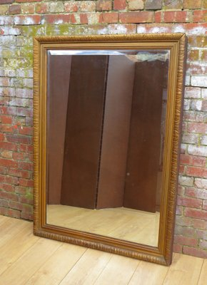 Antique French Gilt Wood Wall Mirror With Mercury Plate 1