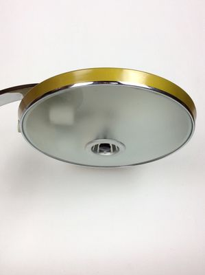 Steel U0026 Frosted Glass Desk Lamp From Fase, 1970s