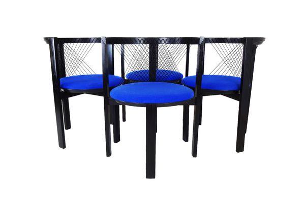 String Chairs By Niels Jørgen Haugesen For Tranekær Furniture, 1980s, Set  Of 4 1