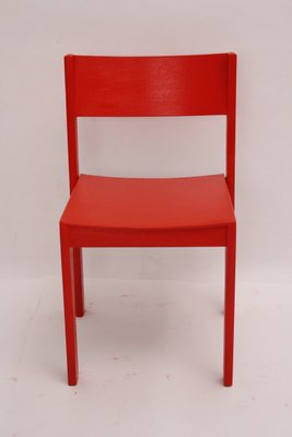Mid Century Modern Red Dining Chairs Set Of 14 For Sale At Pamono