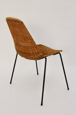 mid century modern wicker chair by gian franco legler 1951 for sale
