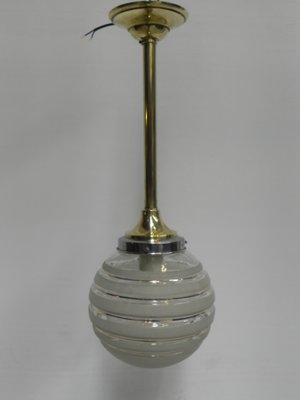 Art Deco Hanging Lamp With Gl Globe Br Ar 1