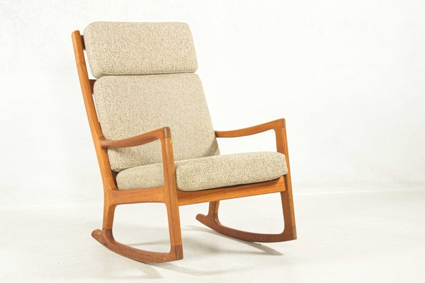 Highback Rocking Chair By Ole Wanscher For Peter Jeppesen 1960s 1
