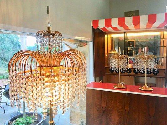 Tavolo Cristallo E Vetro.Lampade Da Tavolo In Cristallo E Vetro Di Murano Italia Anni 60 Set Di 2