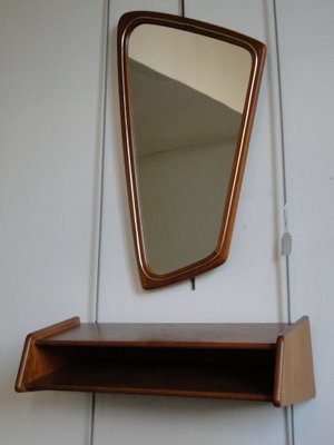 Hallway Set With Mirror And Shelf From Aksel Kjersgaard 1950s For