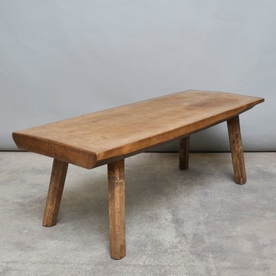 Vintage Oak Industrial Coffee Table Or Bench, 1930s 2
