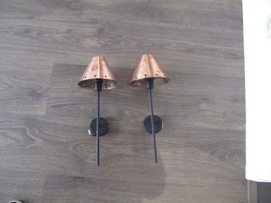 Lampade da parete vintage color bronzo francia set di in