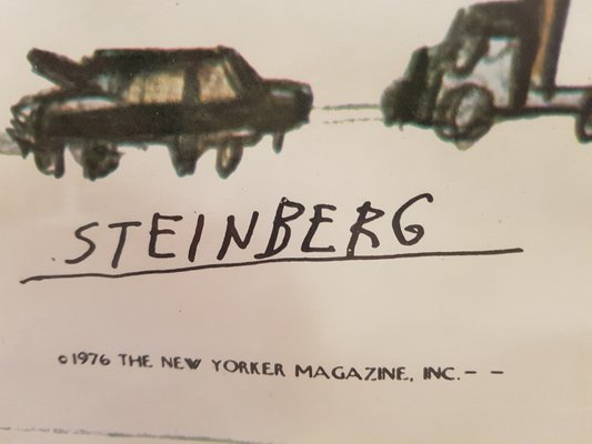 The New Yorker Poster from Steinberg, 1976