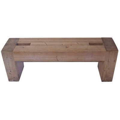 French Wooden Bench By Jean Prouvé