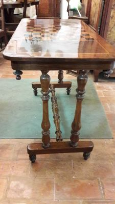 Antique Mahogany Chess Table 6