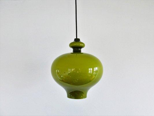 e1e9e1a14736 Green Glass Pendant Lamp by Hans Agne Jakobsson for Markaryd
