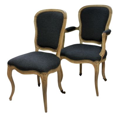 Antique French Dining Chairs, 1780s, Set Of 4 2