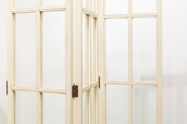 Legno Bianco Vintage : Divisorio vintage in legno laccato bianco anni in