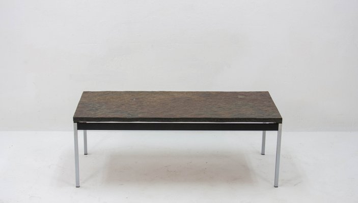 Vintage Slate Coffee Table, 1960s 1