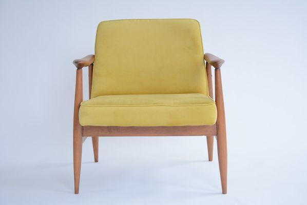 Vintage Velvet Armchairs By J. Kedziorek 1