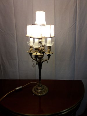 Vintage Bronze And Bohemia Crystal Chandelier Table Lamp 2