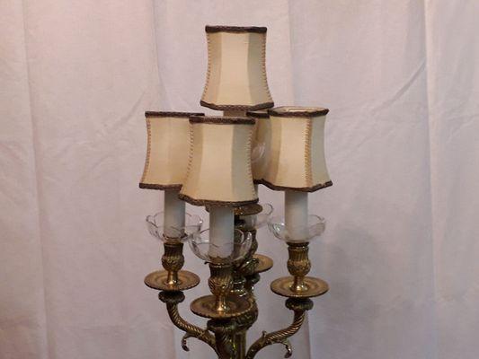 Lampade Cristallo Di Boemia : Lampada da tavolo vintage in bronzo e cristallo di boemia in